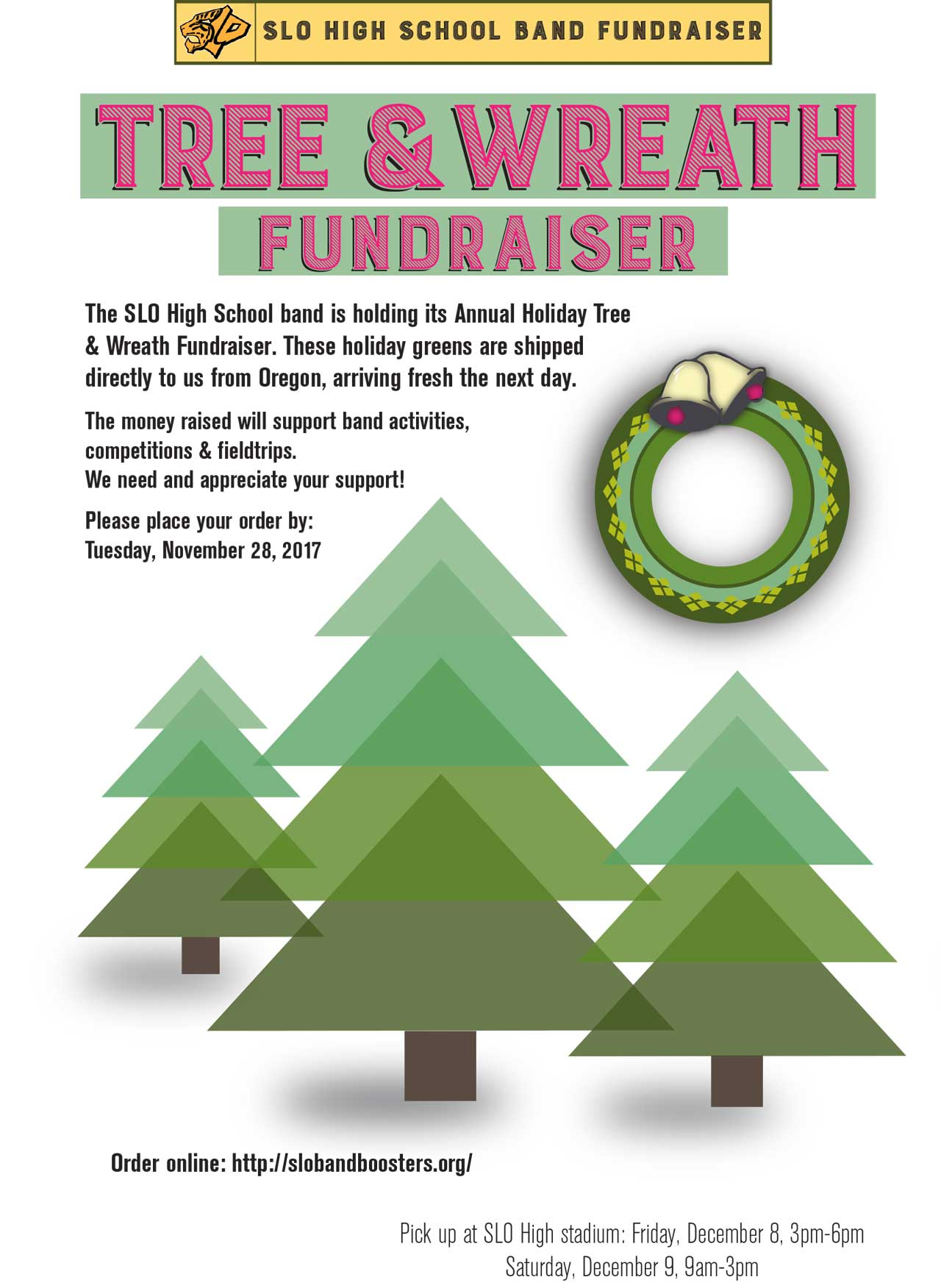 Order Your Holiday Tree And Wreaths From The Slo High Band